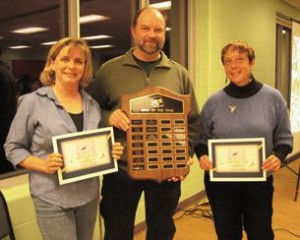 Photo left to right, Cheryl Edgecombe, Rob Dobos, Barbara Charlton for the Long-billed Curlew.